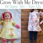 Apple Tree Hooded Dress Grow With Me Dress Printable Sewing Pattern - All Sizes- *PDF Sewing Pattern* Grow with me dress pattern pdf