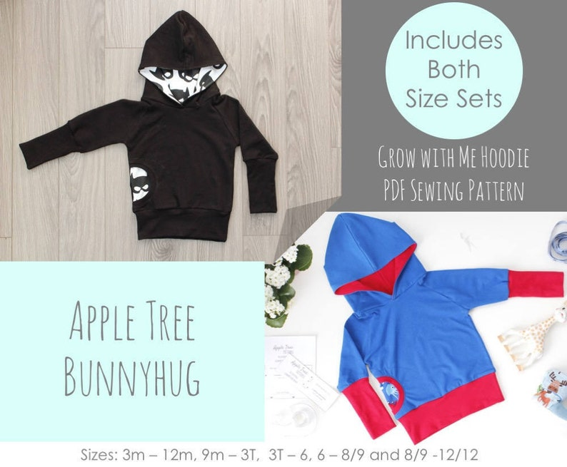 8f93819556d Apple Tree Bunnyhug Grow With Me Hoodie PDF Pattern Pullover