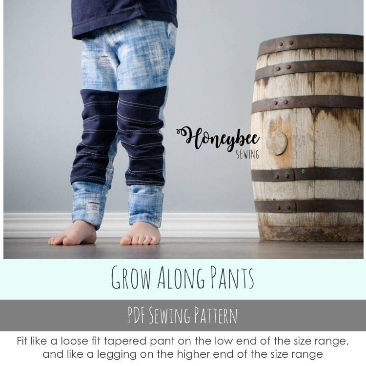 Apple Tree Grow Along Pants: Grow with me sewing pattern for | Etsy