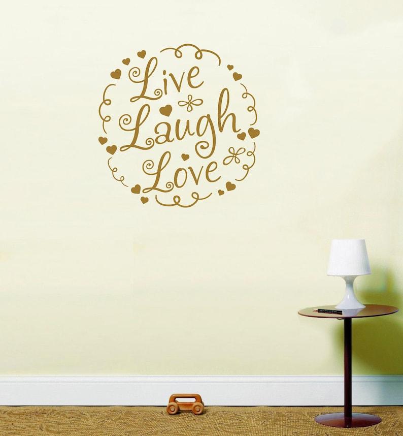 Live Laugh Love instawall inspirational quote sticker vinyl wall art LSWA98436