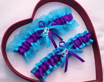 NEW Wedding Garter Purple Turquoise Navy Blue White Prom GetTheGoodStuff