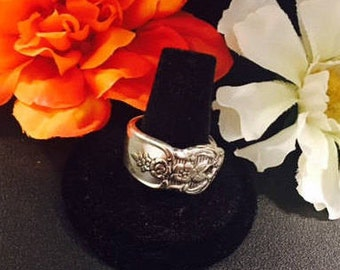 Sterling Silver - Vintage - 1950's - Spoon Ring