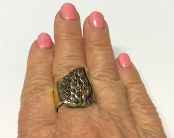 Silver Plated - Wing - Ring
