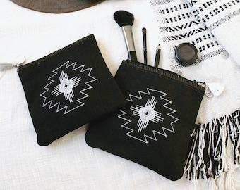 NAVAJO pouch make up pattern Native American Southwest spirit Indie Boho Western