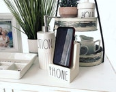 FINAL QUANTITY Rae Dunn Inspired Cell Phone Holder Farmhouse Tiered Tray Cell Phone Stand Ipad Stand Country Decor iPhone