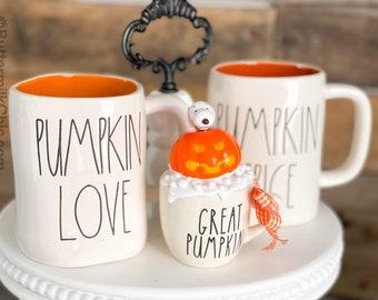 Great Pumpkin WhiteMini Mug Pumpkin Spice Halloween. Fall Decor. Farmhouse Decor. Home Decor. Tier Tray Decor. Thanksgiving Good Grief Brown
