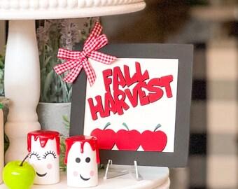 Fall Harvest Apple Decor. Farmhouse Decor. Home Decor. Tier Tray Decor.  Apple decor. Harvest Signs