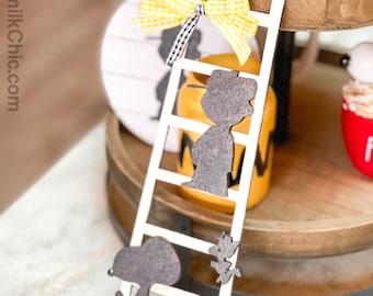 Charlie Ladder | Tiered Tray Decor | Kitchen Decor | Tiered Tray Ladder