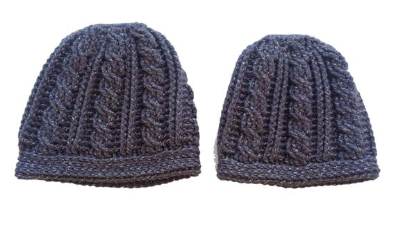 cdab5140327 Bun Hat Pattern Mommy and Me Cabled Crochet Ponytail Hat