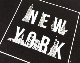 Heavyweight New York Tote bag Canvas Bag Shopping bag Grocery Bag Travel Gift for her Lunch Bag