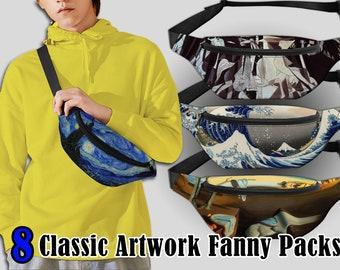 waist pack Starry night belt bag Crossbody Bag Bum bag, creative belt bag banana bag handmade belt bag van gogh Waist Bag waist bag