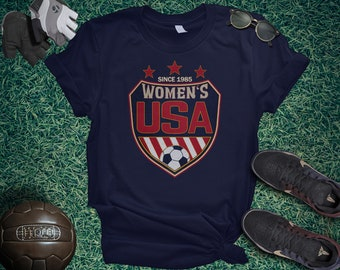 2944be9f8 USA Women Shield Unisex t-shirt - Womens Soccer Cup, France 2019, to  support the best soccer team in the World