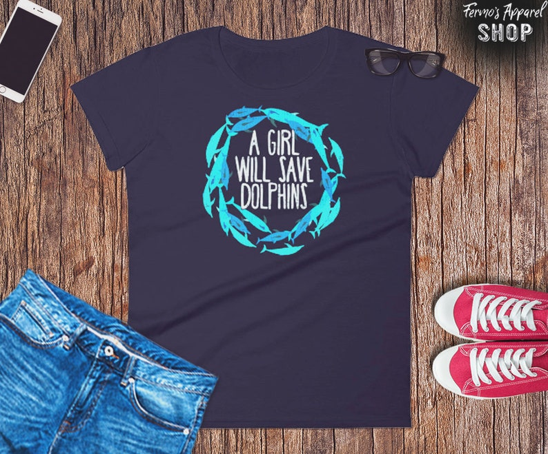 e413c9be A girl will Save the Dolphins t-Shirt for women // Save the oceans //  Animal Rights T-shirt // Arya // Empty the Tanks apparel
