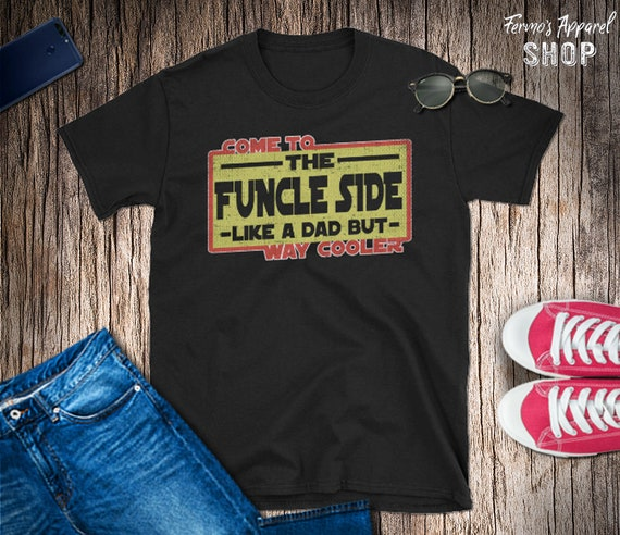 28a0ab04 Funny Uncle TShirt Like a dad but way cooler Funcle Star | Etsy