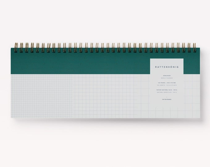 Weekly desktop spiral keyboard, weekly planner