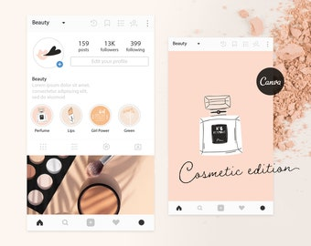 30+ Instagram Cover Highlight Icons - Instagram story - Beauty, make-up, pastel Highlights | Cosmetic Edition
