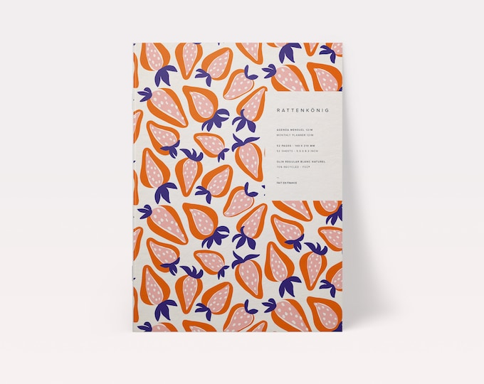 One year (12 M) - Ciflorette monthly organization Planner