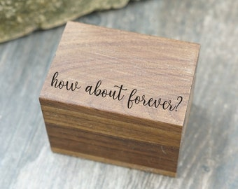 Wedding Ring Box Engagement Ring Box Removable Lid Always And Forever Laser Engraved Magnetic Wooden Ring Box