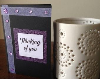 Handmade Greeting Card, Thinking Of You Sympathy Card