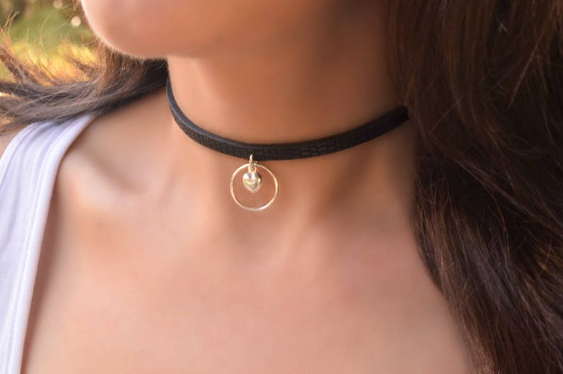 Submissive Day Collar O ring Collar Collar Black Leather BDSM Collar Discreet Day Collar BDSM Day Collar Slave Day Collar