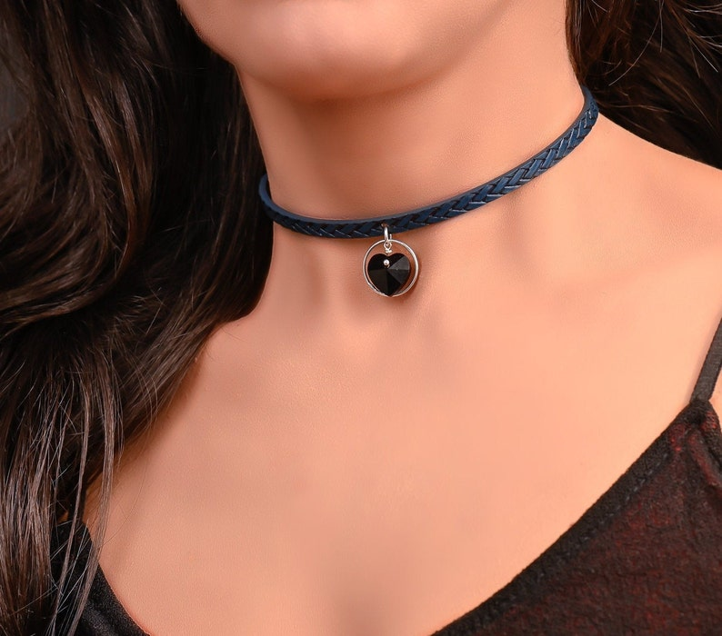 Heart Choker Collar for Women BDSM Collar Submissive Day Collar Discreet Day Collars for Subs Slave Collar BDSM Jewelry