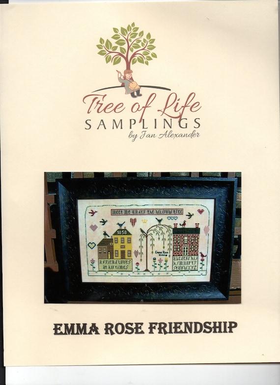 Tree of Life Samplings Counted Cross Stitch LeafletPamphlet Emma Rose Friendship Designed by Jan Alexander Pattern Only