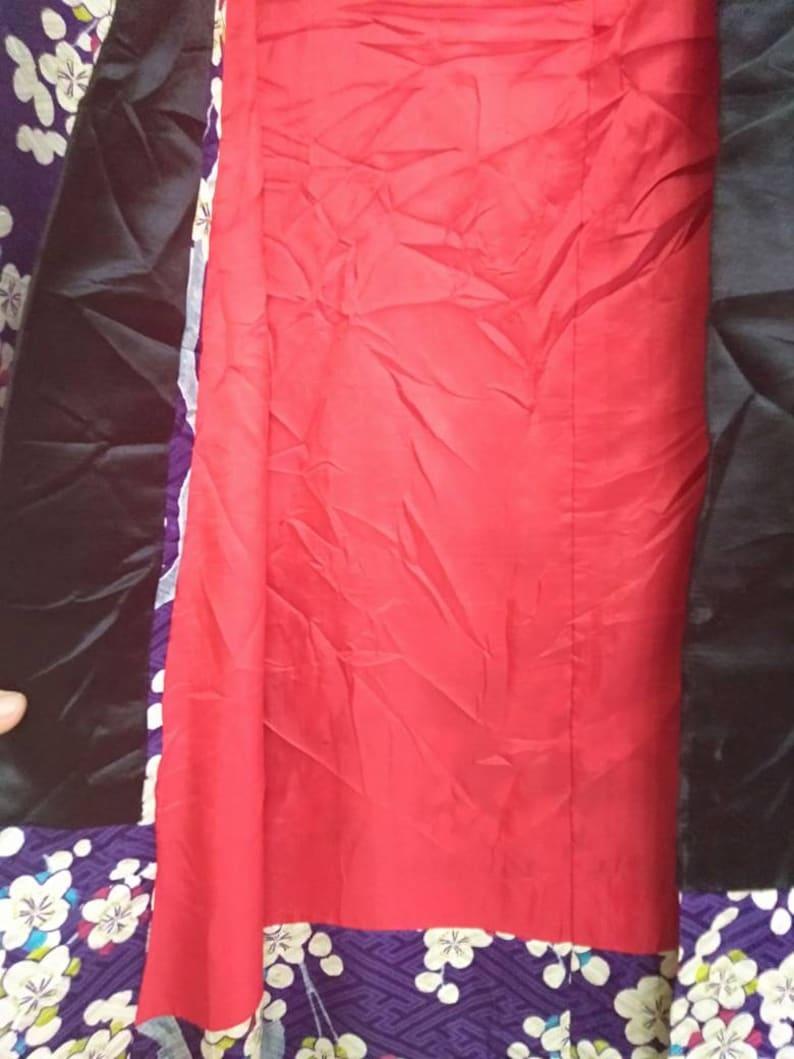 FREE SHIPPING! Vintage Kimono Haori Yukata Japanese Traditional Flower Motif Nice design in Purple Colour