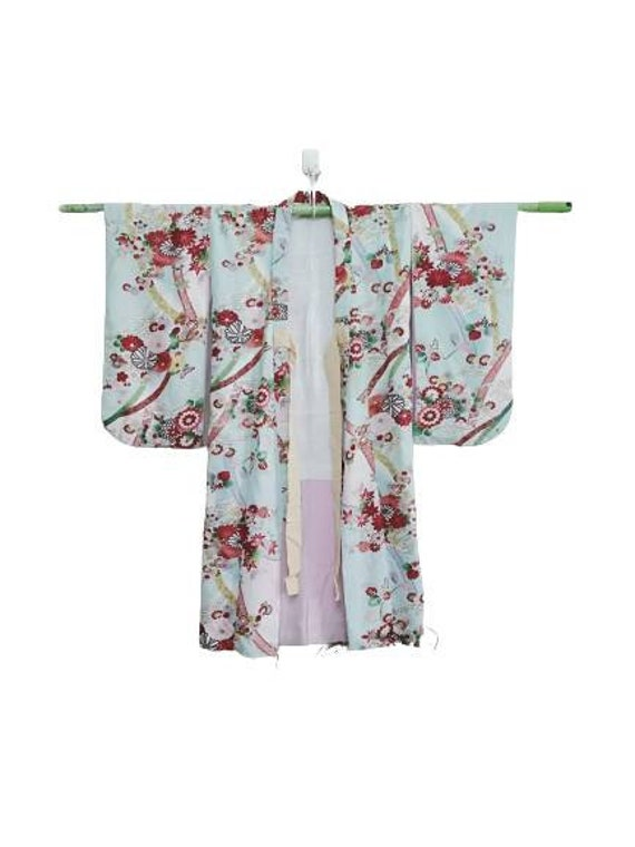 vintage kimono Japanese with abstract design Cotton fabric Long kimono