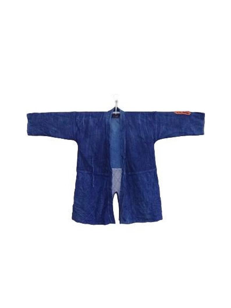Vintage Kimono Adult Noragi Japanese Traditional Blue Indigo FREE SHIPPING!