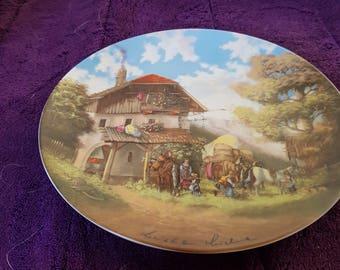"""Von Christian Luckel """"Bor Der Schmiede"""" 1986. Plate 19cm"""