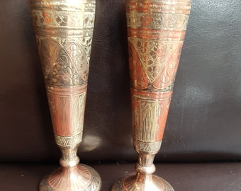 Pair of Small Antique Metal Goblets