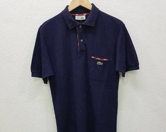 8d442cb5ca6bef Vintage Chemise Lacoste Made In France Single Pocket Polo Shirt Nice Design  Fit Medium Size