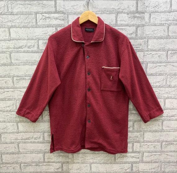 Vintage Yves Saint Laurent Ysl Fleece Pyjamas Slee