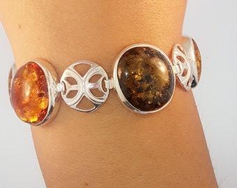 Oshun bracelet charm metal stamped with Amber Item # OSCB001 Spiritual Dawn Line