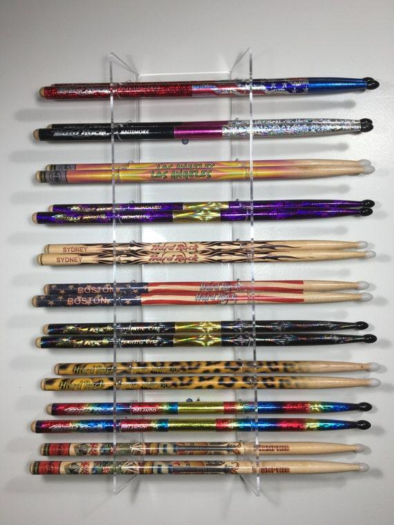 Drumstick display rack  Natural Finish pine wood holds 10 sticks 10 x 17