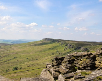 Stanage Edge In Spring