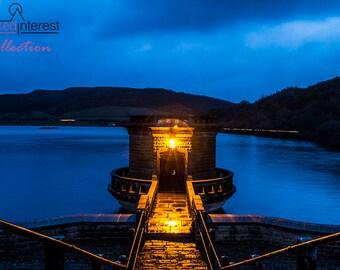Ladybower Tower At Nightfall
