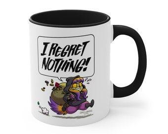 I REGRET NOTHING - Dragon & Thief Coffee Mug - Black Accent, 11oz