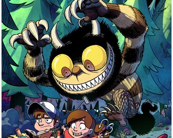 Wild Things in Gravity Falls - Color Art Print - 11 x 17 inch