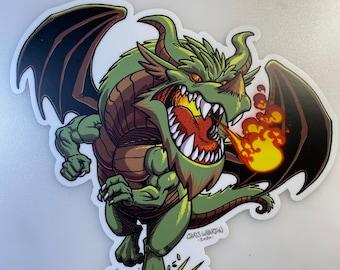 Dragon - Green/Brown - Vinyl Sticker
