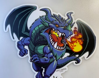 Dragon - Blue/Green - Vinyl Sticker