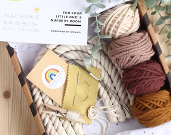 DIY Rainbow Kit (Four Arches), Make Your Own Rainbow, Rainbow Craft Kit, Macrame Rainbow Kit, DIY Kit for Adults and Teens, Craft Gift