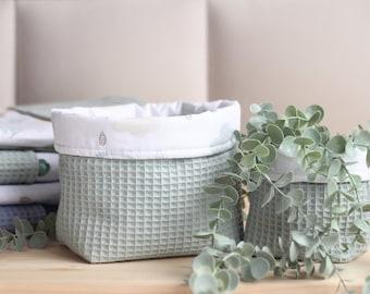 Diaper Storage For Changing Table, Fabric Organizer Basket, Cloth Baskets, Baby Room Organizer, Fabric Storage Bin, Utensil Baby Basket