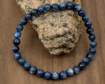 Natural 6 mm Matt Sodalite Bead Bracelet-5 inch to 9 inch