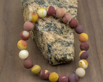 20 Inch 27 inch,30 inch-CUSTOM-Stainless Steel Lobster Clasp -Healing Stone Natural 10 mm Mookaite Bead Necklace-18 inch 24 Inch 22 Inch