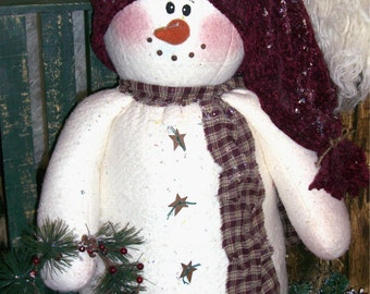 "Jolly the Snowman Pattern is a 22"" Tall Snowman"
