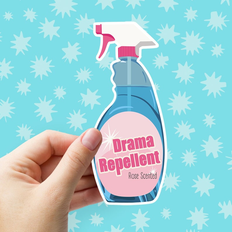 Drama Repellent Sticker Large Vinyl Sticker Matte Phone Etsy