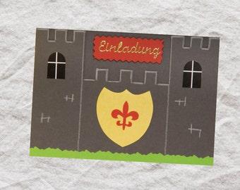 Einladungskarte Ritter
