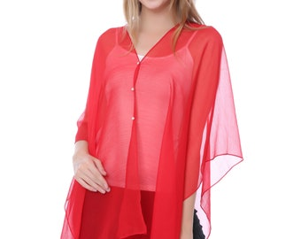 Red Beach Cover Up/Swimsuit Cover Up(QH-321-8-06)