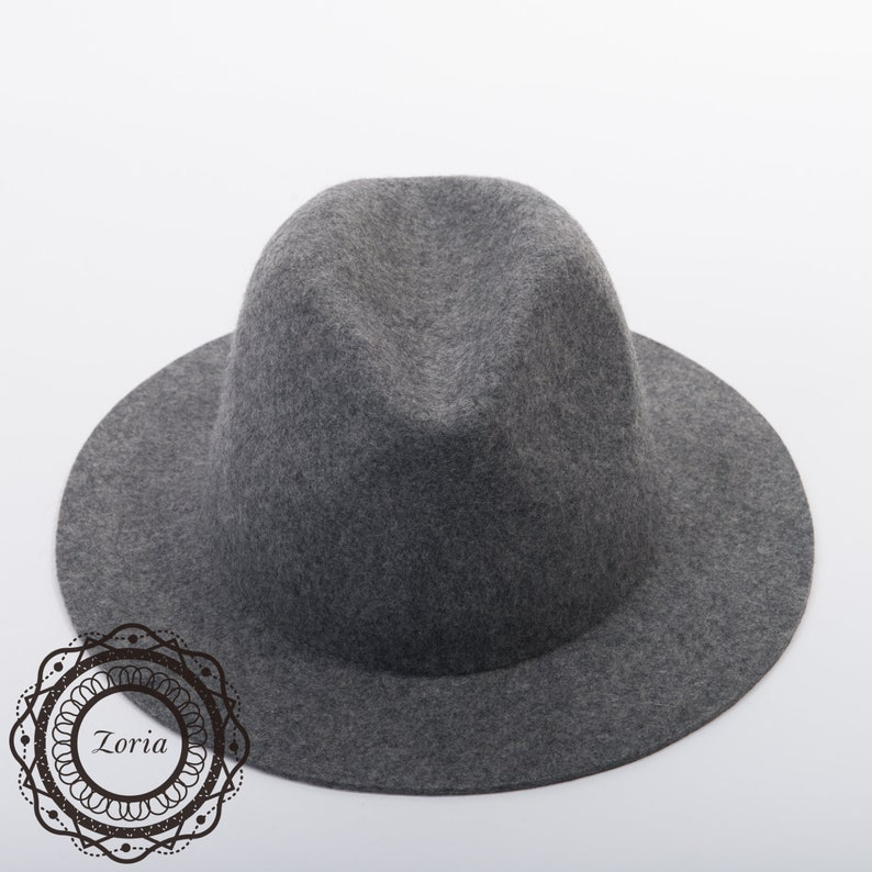 4a42ffa71 Medium Brim Fedora Blocked Untrimmed Wool Tribal Western Felt Hat Base|  W0167A